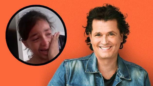 Así como esta niña, tú también puedes recibir una llamada de Carlos Vives y llorar de emoción [VIDEO]