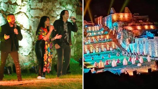 Ezio Oliva y Daniela Darcourt reaperturaron Machu Picchu cantando 'Cuando pienses en volver'