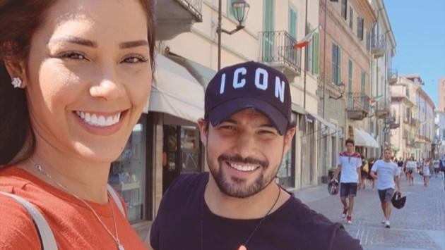 Ezio Oliva y Karen Schwarz disfrutan de su luna de miel en Italia