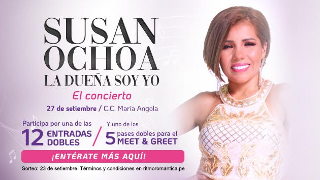 Gana entradas dobles para el concierto de Susan Ochoa 'La dueña soy Yo'