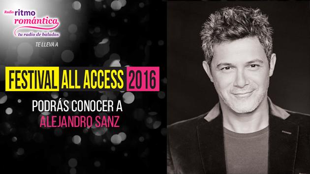 Gana entradas dobles para el concierto de Alejandro Sanz y pases para un Meet and Greet en el Festival All Access