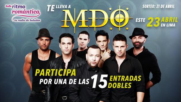 Gana entradas dobles para el concierto de MDO en Lima