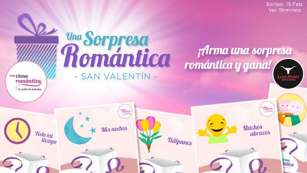 Gana uno de las 2 Cenas Románticas que te regala Radio Ritmo Romántica, enviando una sorpresa por San Valentín