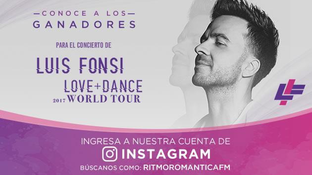 Ganadores de entradas doble para el concierto de Luis Fonsi en Lima
