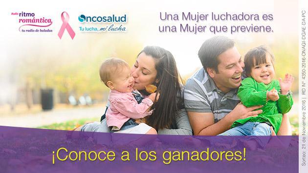 Ganadores de las 20 mamografías gracias a Ritmo Romántica y Oncosalud