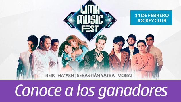 Conoce a los ganadores para el Lima Music Fest
