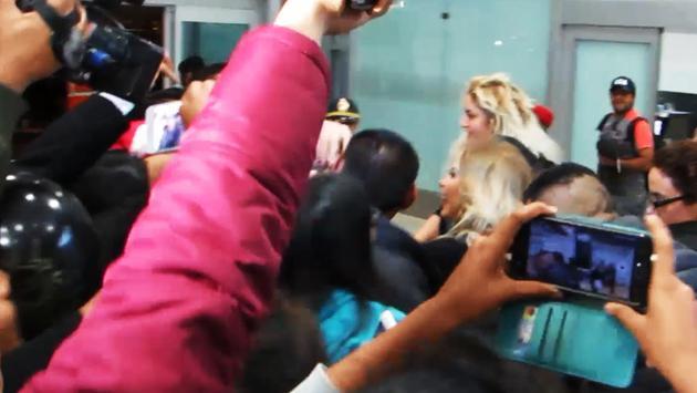 Gloria Trevi y Alejandra Guzmán llegaron a Lima para el más grande 'versus' de la música [FOTOS Y VIDEO]