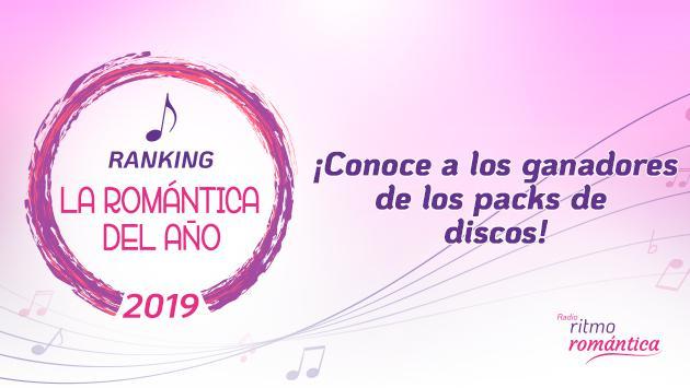 ¡Gracias por participar del Ranking La Romántica del año! Conoce a los ganadores de los packs de discos.