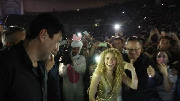 Hasta los niños disfrutan de la gira de Shakira