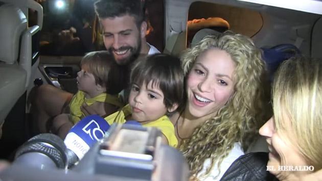 Hijo de Shakira y Gerard Piqué habló con la prensa por primera vez [VIDEO]