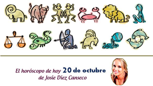 Horóscopo de hoy de Josie Diez Canseco: 20 de octubre