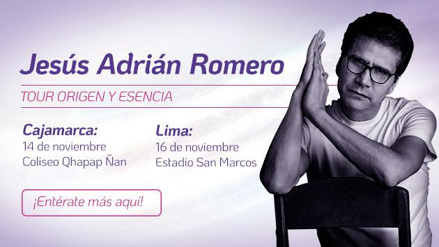 Jesús Adrián Romero regresa la Perú y ofrecerá conciertos en Lima y Cajamarca