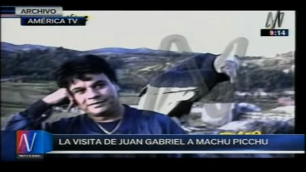 Juan Gabriel y la vez que visitó Machu Picchu y quedó maravillado [VIDEO]