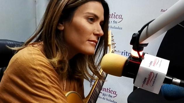 Kany García llegó a Lima y visitó la cabina de Ritmo Romántica