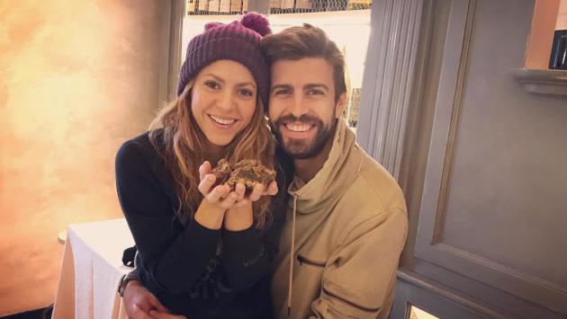 Shakira y Piqué recibieron el 2019 en la nieve