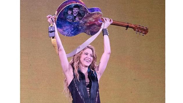 La reunión familiar de Shakira en pleno concierto