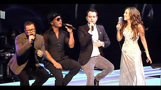 La vez en la que Thalía cantó con los integrantes de Sin Bandera, Reik y Camila