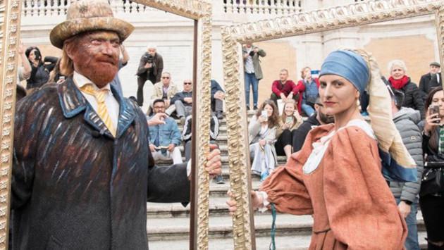 Laura Pausini sorprende a sus seguidores al vestirse como una famosa pintura