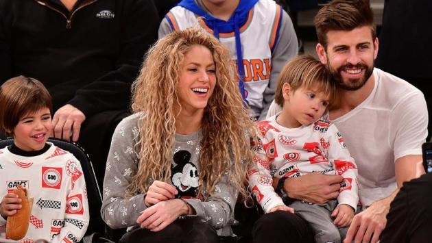 Hijos de Shakira y Piqué se robaron la atención en el Camp Nou