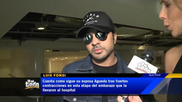 Luis Fonsi, feliz y a la vez preocupado por el embarazo de su esposa