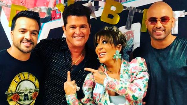 Luis Fonsi y Alejandra Guzmán celebraron a Carlos Vives