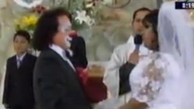 Mira esta particular boda al estilo de un payaso