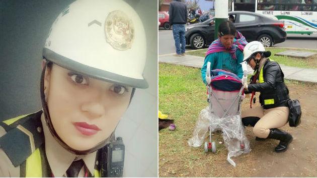 ¡Mujer policía conmueve con lindo gesto hacia madre vendedora de golosinas!