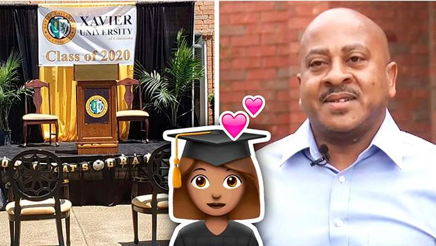 Papá organiza ceremonia de graduación afuera de casa para su hija