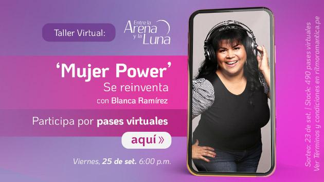 Participa del taller virtual 'Entre la Arena y la Luna, Mujer power se reinventa'