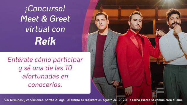 ¡Participa por un cupo para el Meet & Greet de Reik!