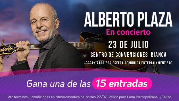 Participa y podrás ganar un acceso para el concierto en vivo de Alberto Plaza