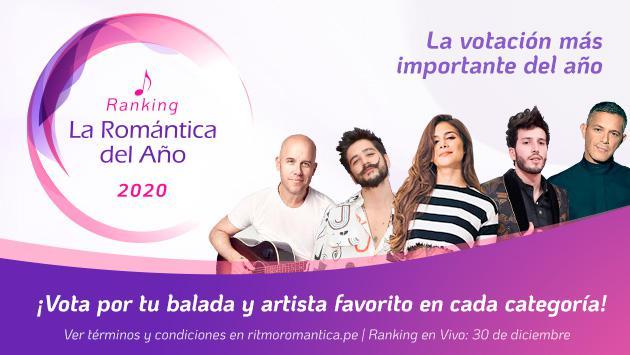 ¡Vota por tus artistas favoritos en el Ranking 'La romántica del año'!