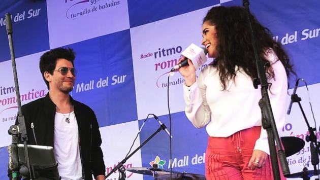 Fer Reyna y Sandra Muente cantaron juntos en el Festival de Baladas
