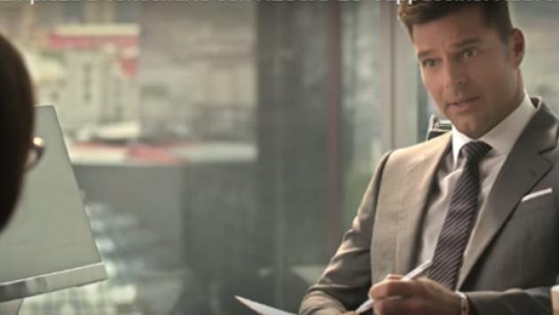 Ricky Martin se convirtió en Christian Grey