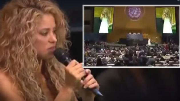 Shakira cantó para el Papa Francisco