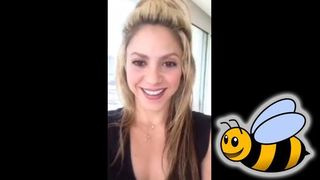 Shakira entra en pánico por una abeja en video de Instagram [VIDEO]