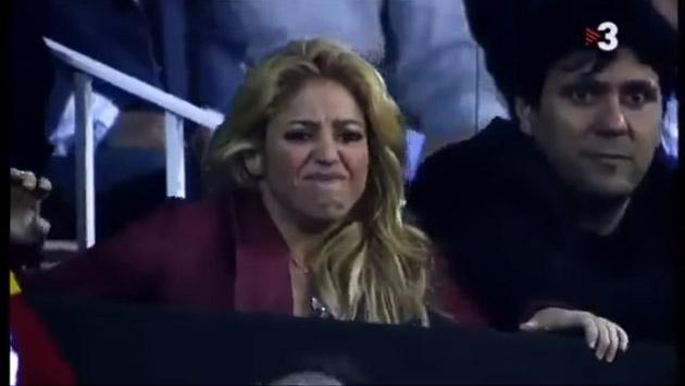 Shakira y sus gestos en el Barcelona-Real Madrid demuestran lo gran hincha que es [VIDEO]