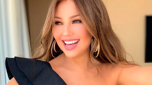 Thalía se unió a la fiebre del 'Silhouette challenge'
