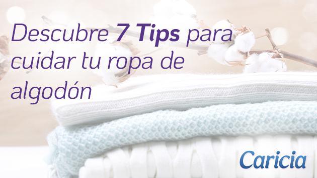 Tips para cuidar tu ropa de algodón