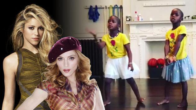 Cuando las hijas gemelas de Madonna imitan a Shakira