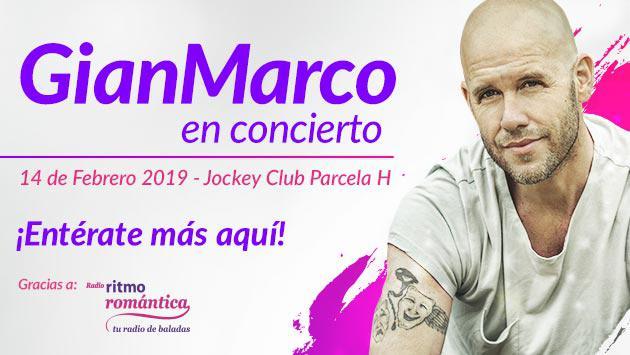 Todo sobre el concierto de GianMarco en Lima gracias  Ritmo Romántica