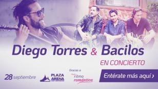 Diego Torres y Bacilos compartirán escenario en Lima