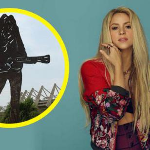 El gran monumento de Shakira en Barranquilla