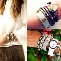 Aprende a combinar relojes con pulseras.
