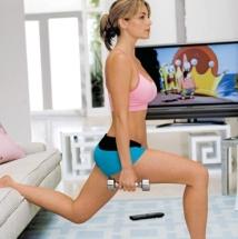 Baja de peso mirando TV.