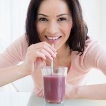 Batido de frutas para limpiar el intestino.