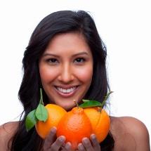 Crema de naranja para aclarar la piel.