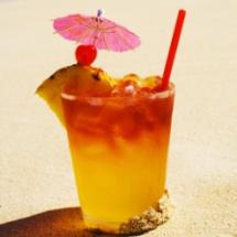 Jugo tropical de verano.