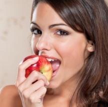 Manzana para bajar de peso.