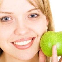 Manzana para cerrar los poros.